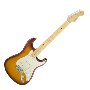 FENDER AMERICAN ELITE STRATOCASTER, MAPLE - TOBACCO SUNBURST, ASH BODY img