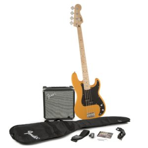 Squier Precision Bass Pack With Rumble 15 Amplifier Butterscotch Blonde
