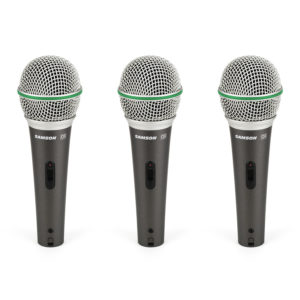 Samson Q6 Dynamic Microphone 3-Pack