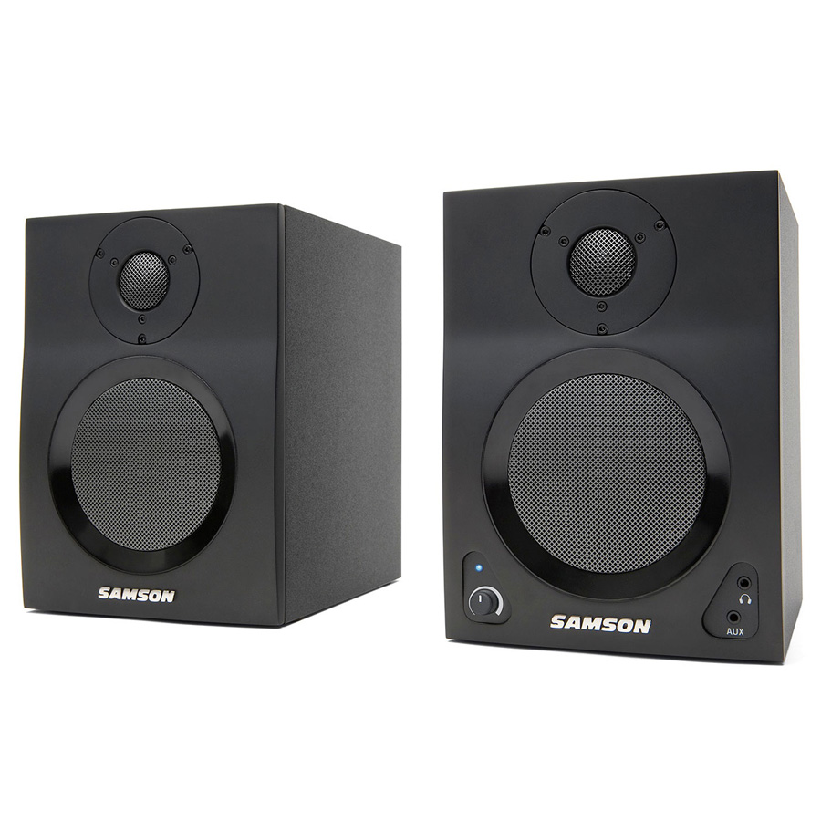 samson mediaone bt4 active studio monitors with bluetooth pair music machine musical. Black Bedroom Furniture Sets. Home Design Ideas