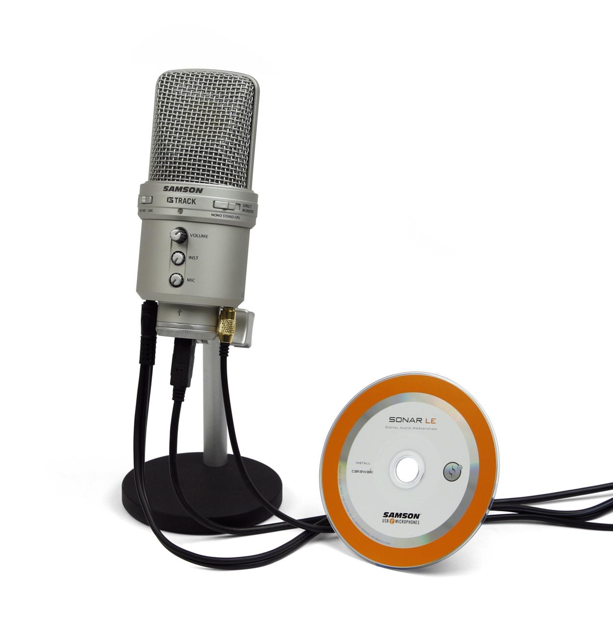 samson g track large diaphragm usb condenser mic new zealand. Black Bedroom Furniture Sets. Home Design Ideas