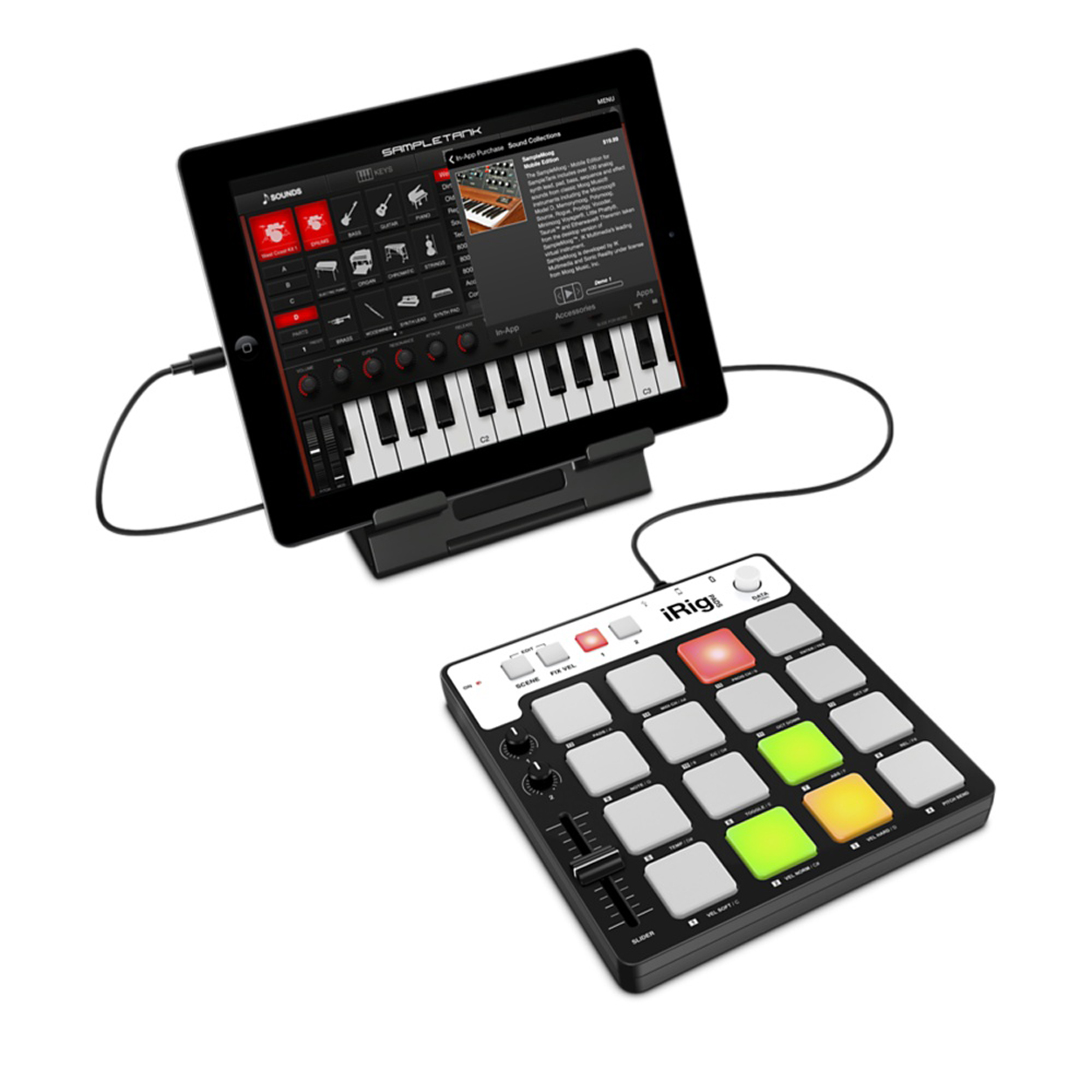 ik multimedia irig pads portable midi controller new zealand. Black Bedroom Furniture Sets. Home Design Ideas