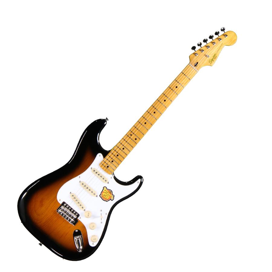 squier classic vibe stratocaster 39 50s 39 50s 2 tone sunburst. Black Bedroom Furniture Sets. Home Design Ideas