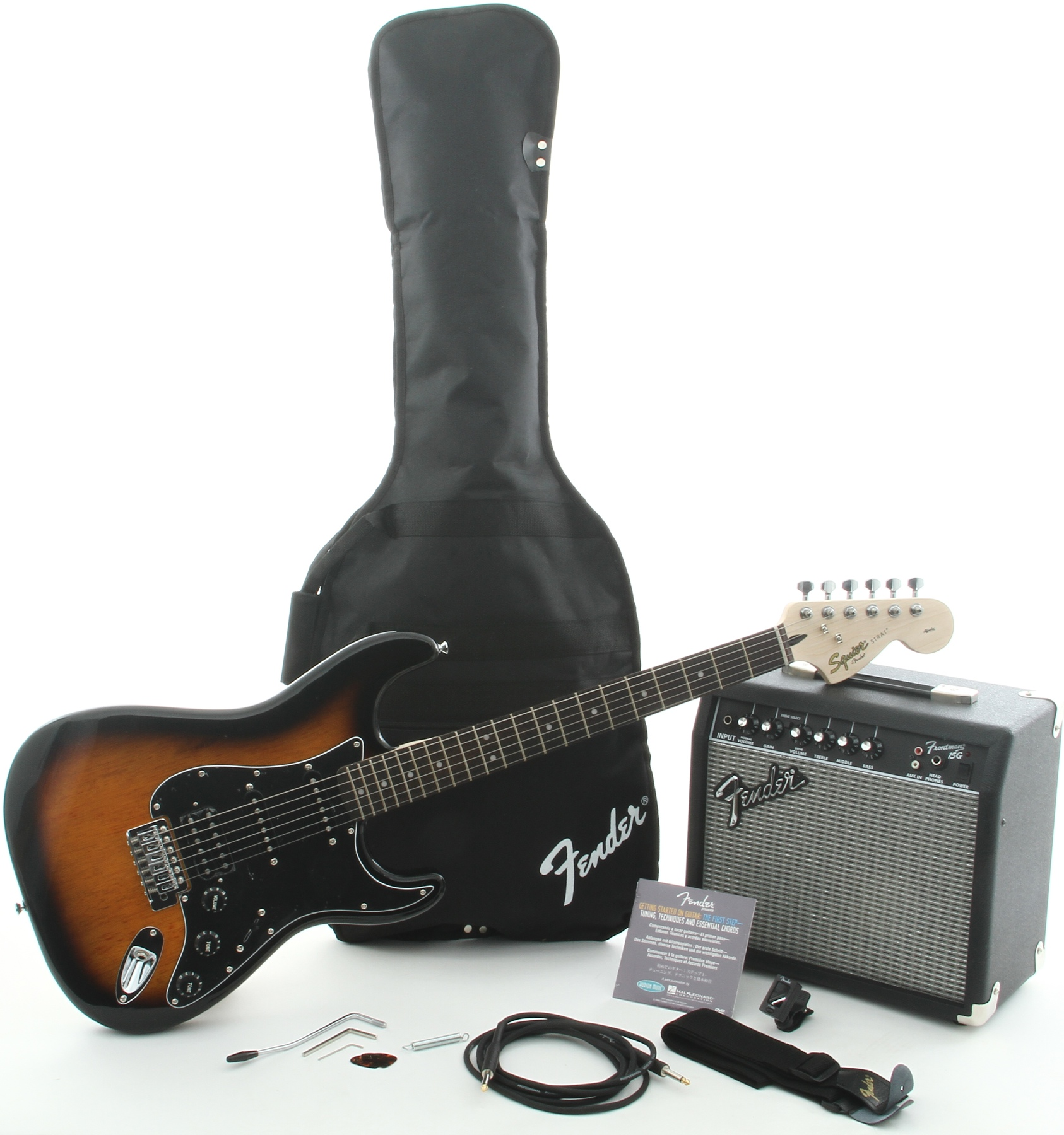 Squier Affinity Strat Wiring Diagram: SQUIER AFFINITY STRAT PACK HSS WITH FRONTMAN 15G AMPLIFIER