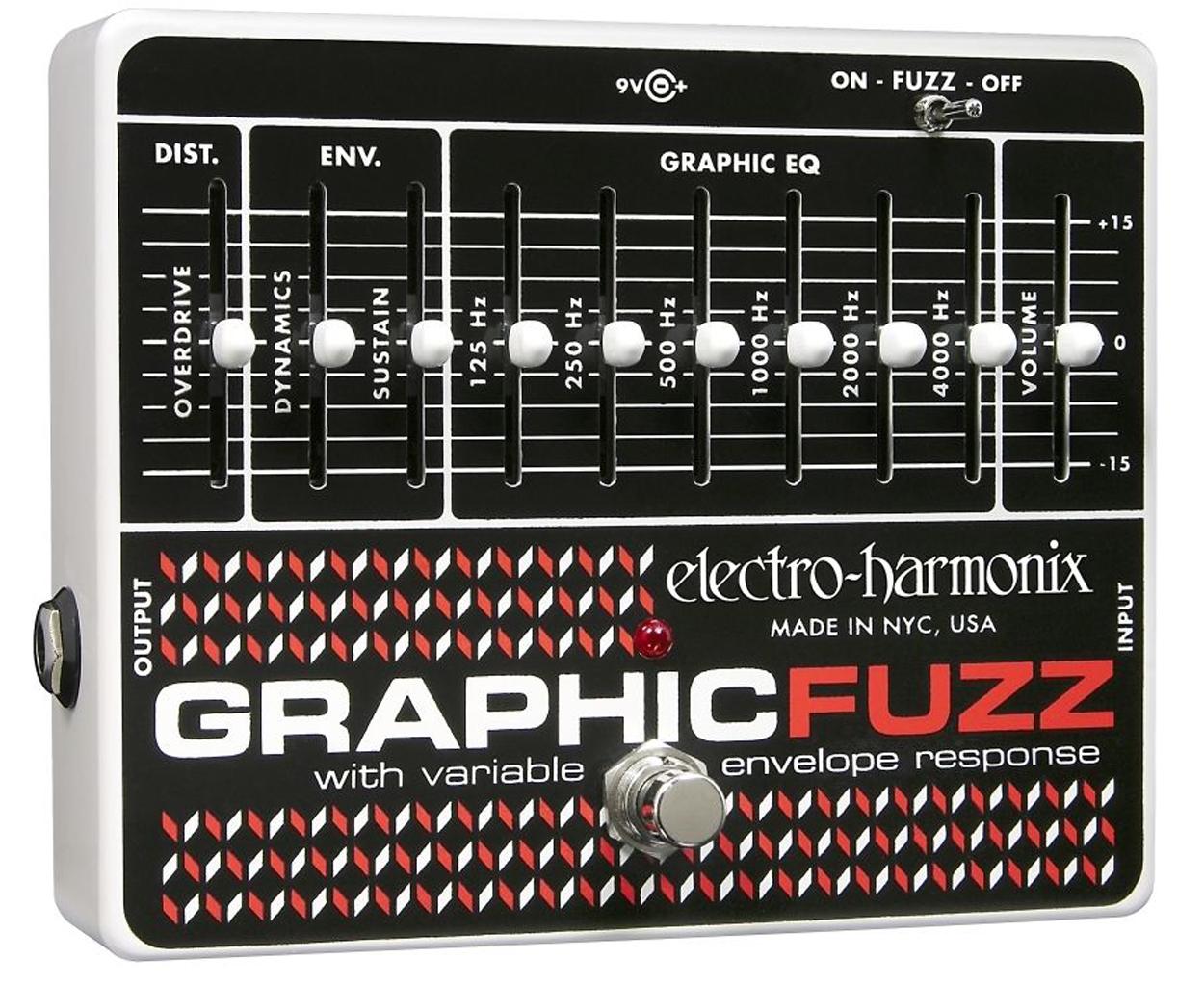 electro harmonix graphic fuzz effects pedal music machine nz. Black Bedroom Furniture Sets. Home Design Ideas