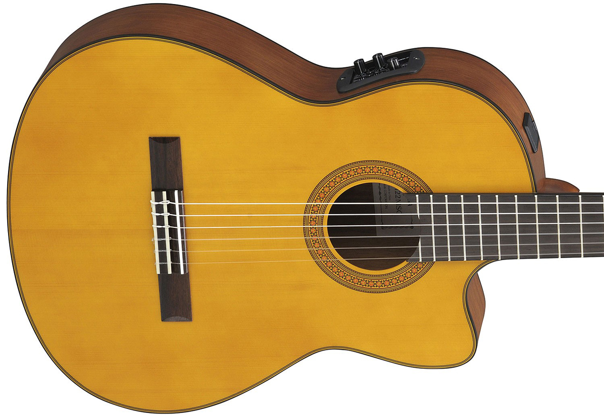 yamaha cgx122msc acousric electric classical guitar music machine nz. Black Bedroom Furniture Sets. Home Design Ideas