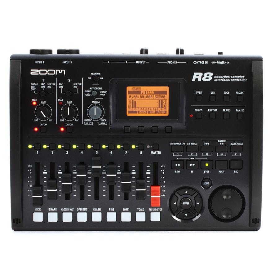 Zoom R8 2-track Digital Recorder/USB Interface - Music Machine NZ