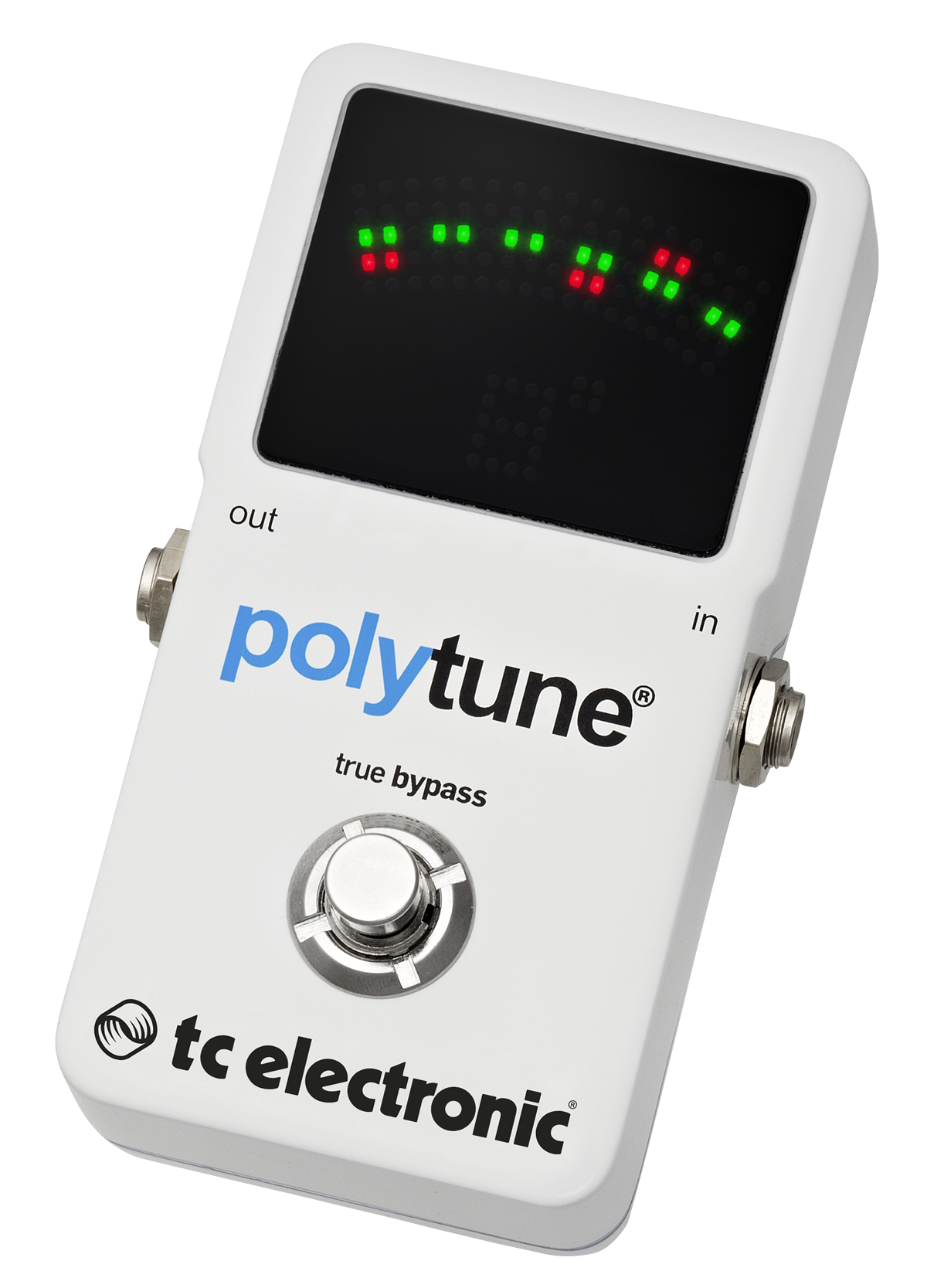 tc electronic polytune 2 polyphonic led guitar tuner pedal music machine nz. Black Bedroom Furniture Sets. Home Design Ideas