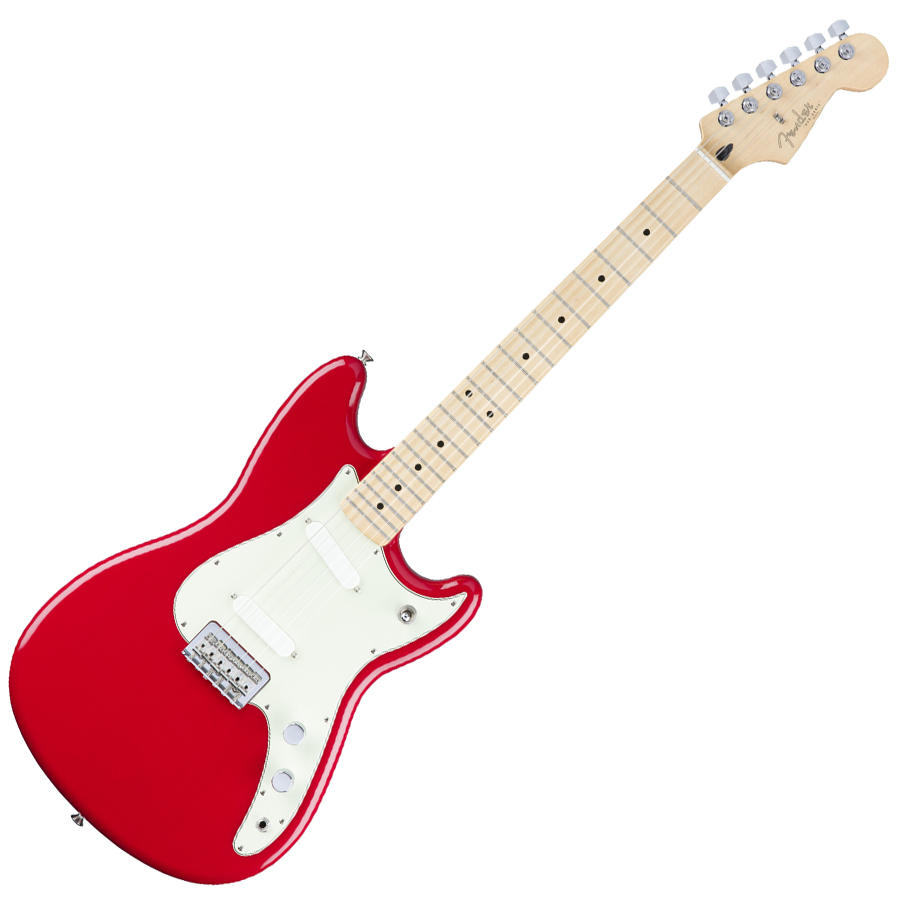 fender duo sonic torino red electric guitar with maple fingerboard music machine musical. Black Bedroom Furniture Sets. Home Design Ideas