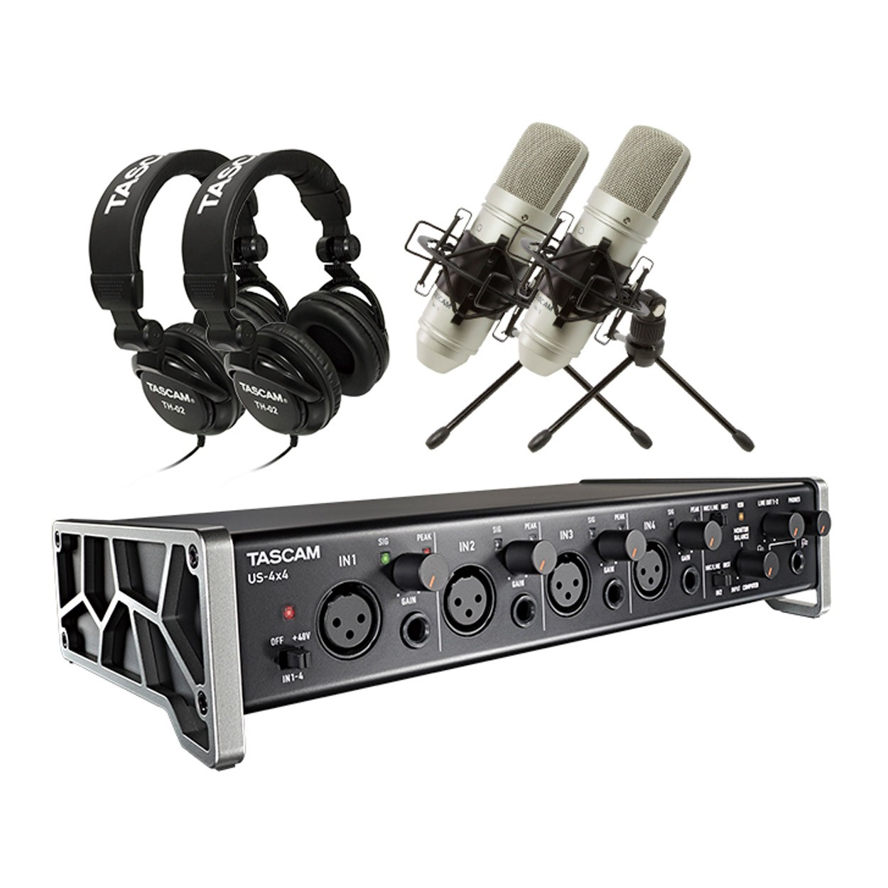 tascam trackpack 4x4 complete recording studio for pack music machine musical instruments nz. Black Bedroom Furniture Sets. Home Design Ideas