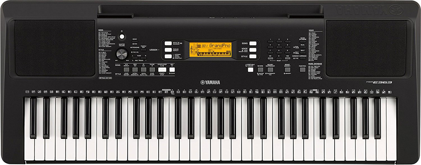 yamaha psr e363 61 key portable digital keyboard music. Black Bedroom Furniture Sets. Home Design Ideas