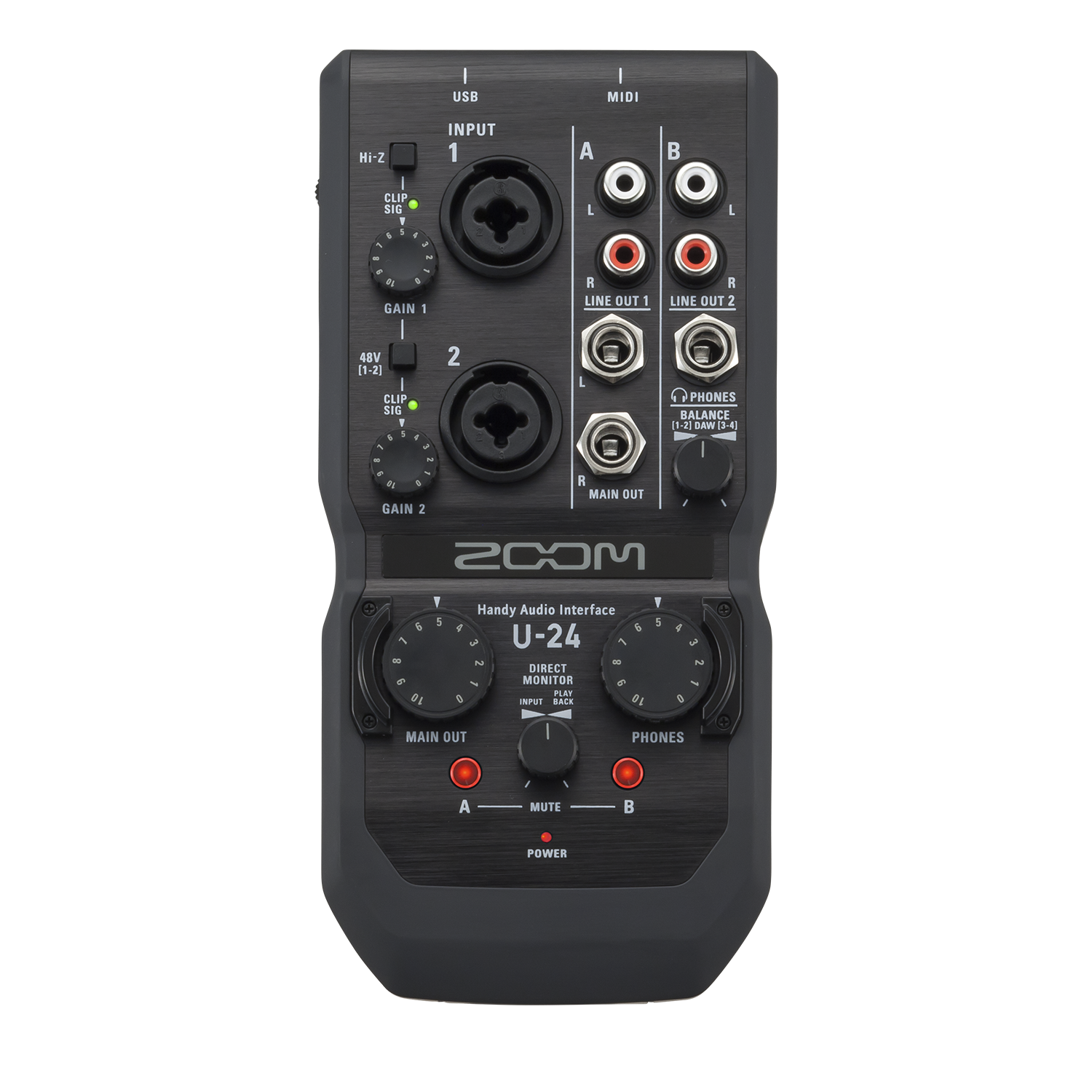 Zoom U 24 Portable Audio Interface Music Machine