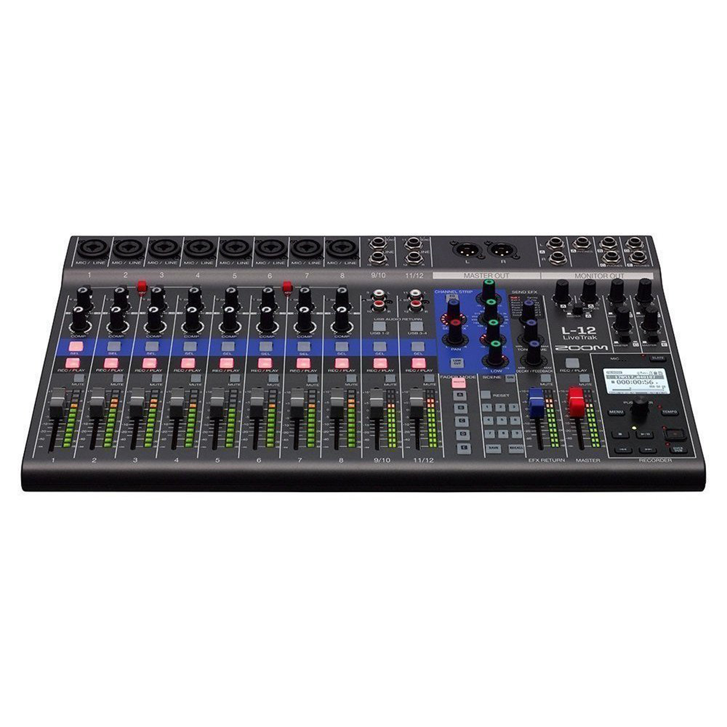 zoom livetrak l 12 12 channel digital mixer 12 track recorder and audio interface music. Black Bedroom Furniture Sets. Home Design Ideas