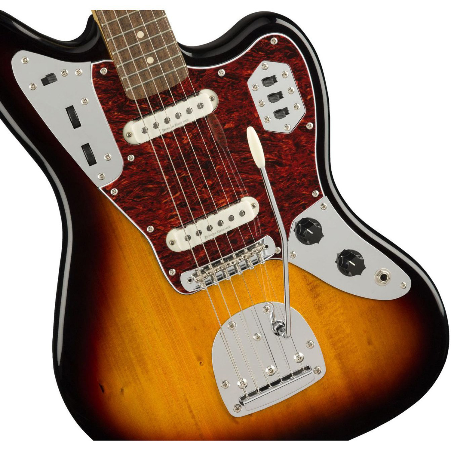 squier vintage modified jaguar 3 tone sunburst music machine musical instruments nz guitars nz. Black Bedroom Furniture Sets. Home Design Ideas